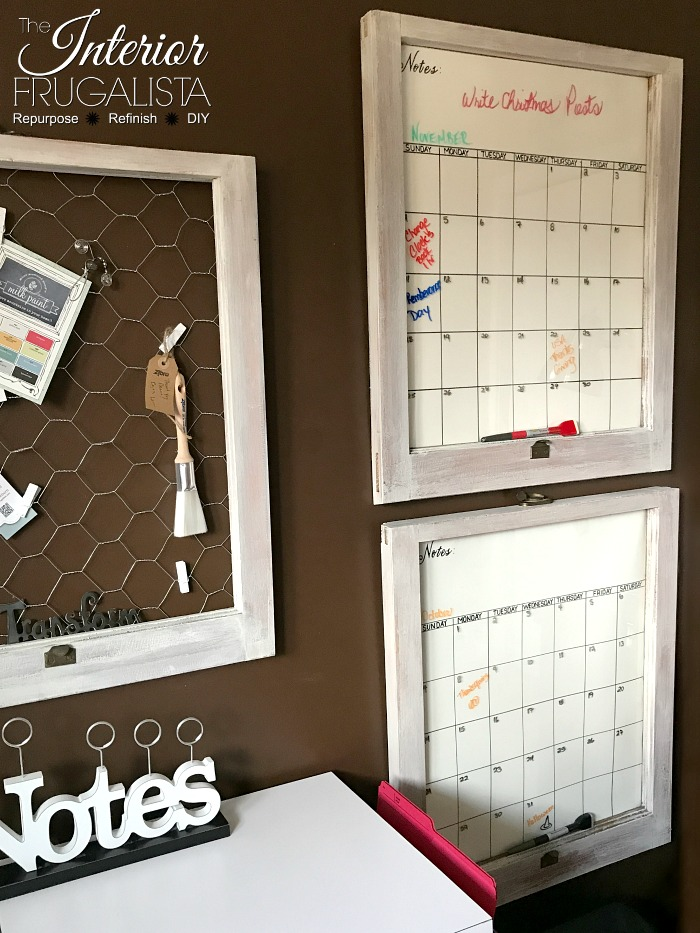 Old Window Dry Erase Monthly Calendars