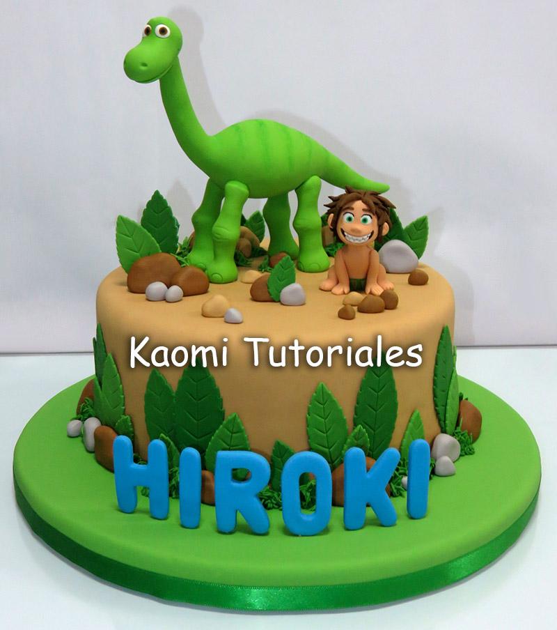 Kaomi Tutoriales: Un Gran Dinosaurio, Figuras Para Torta