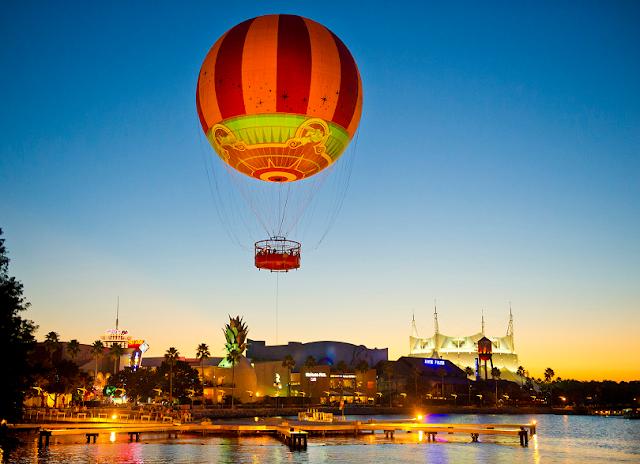Voo de balão no Disney Springs
