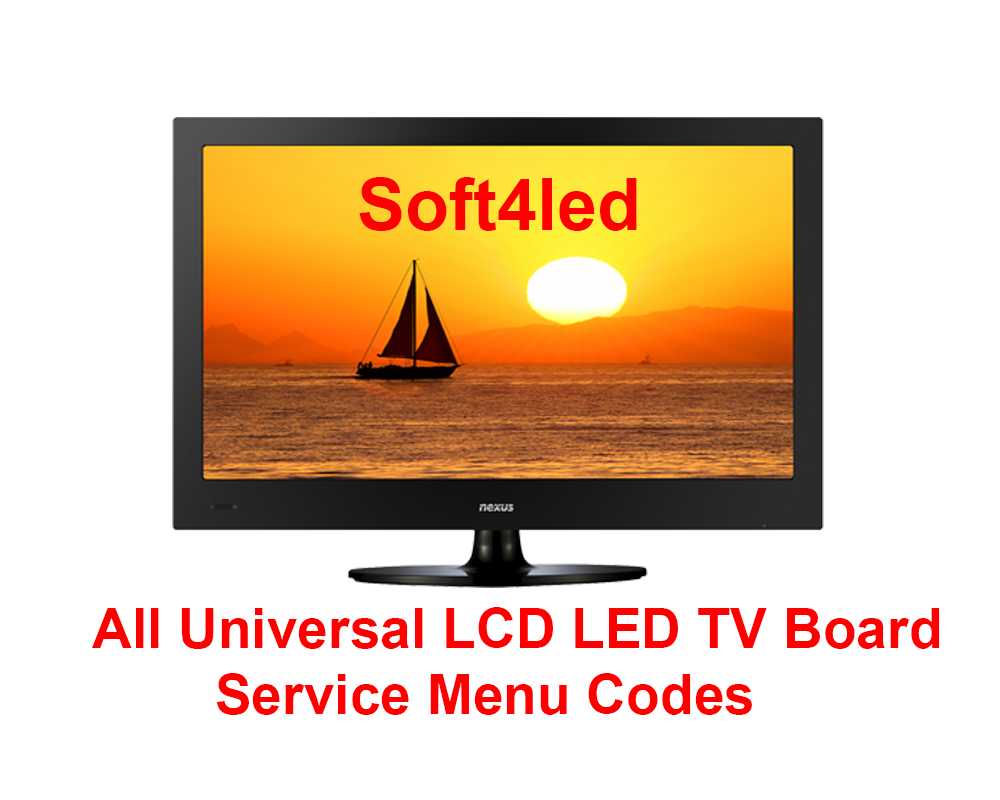 All Universal LCD LED TV Board Service Menu Codes - Mr