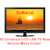 All Universal LCD LED TV Board Service Menu Codes