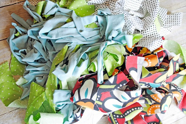 DIY Scrap Fabric Bunting | Easy DIY tutorial for a fun frayed fabric bunting. | Great for everyday, seasonal, and even party decor.