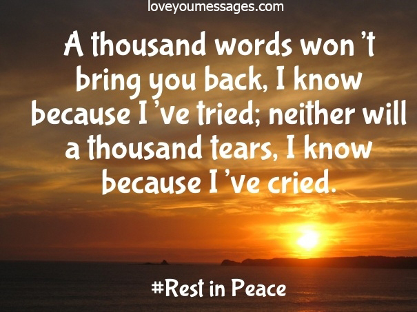 rest in peace quotes - condolence quotes - rip quotes