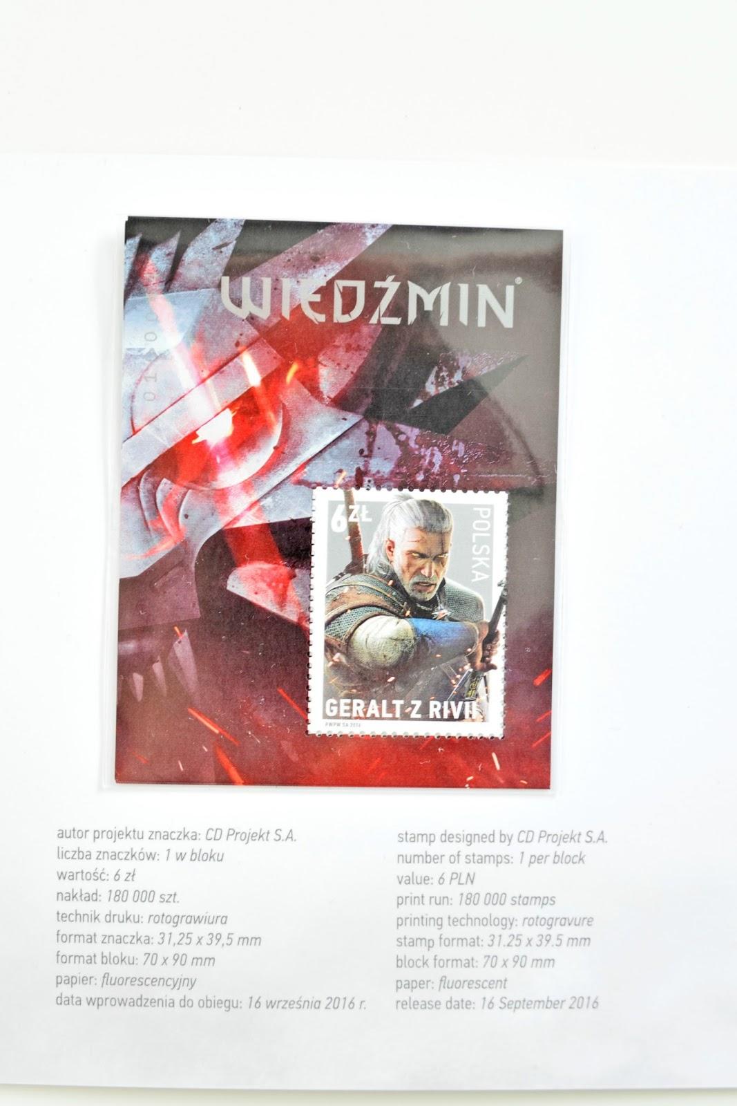 Limitowana edycja znaczka z Wiedzminem.