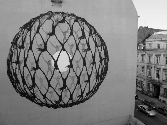 Фотографии работ уличного художника. Sam3 7