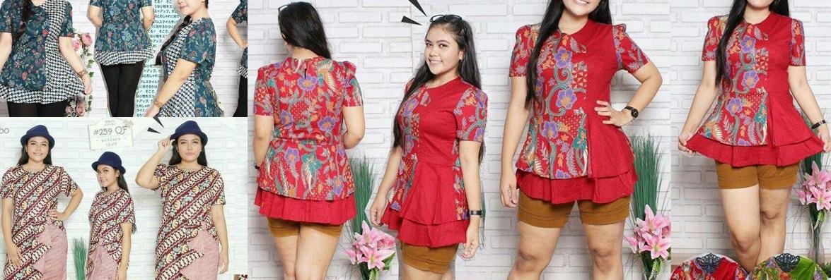 Model Baju Batik Untuk Wanita Gemuk Agar Terlihat Langsing Teman
