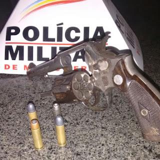 ALMENARA: PM apreende revólver e 4 pessoas são detidas