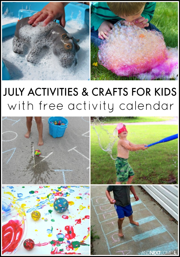 Calendar Ideas For July : July activities for kids free activity calendar and