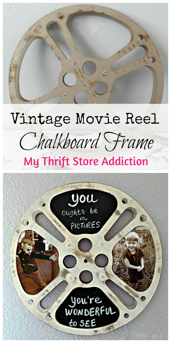 retro vintage movie reel chalkboard frame