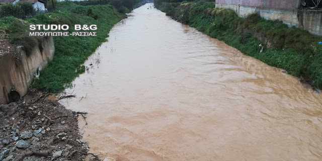 Αργολίδα: Φούσκωσαν τα ποτάμια στο Άργος