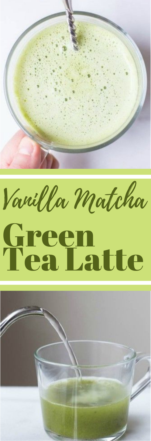 Vanilla Matcha Green Tea Latte #vanilla #drink