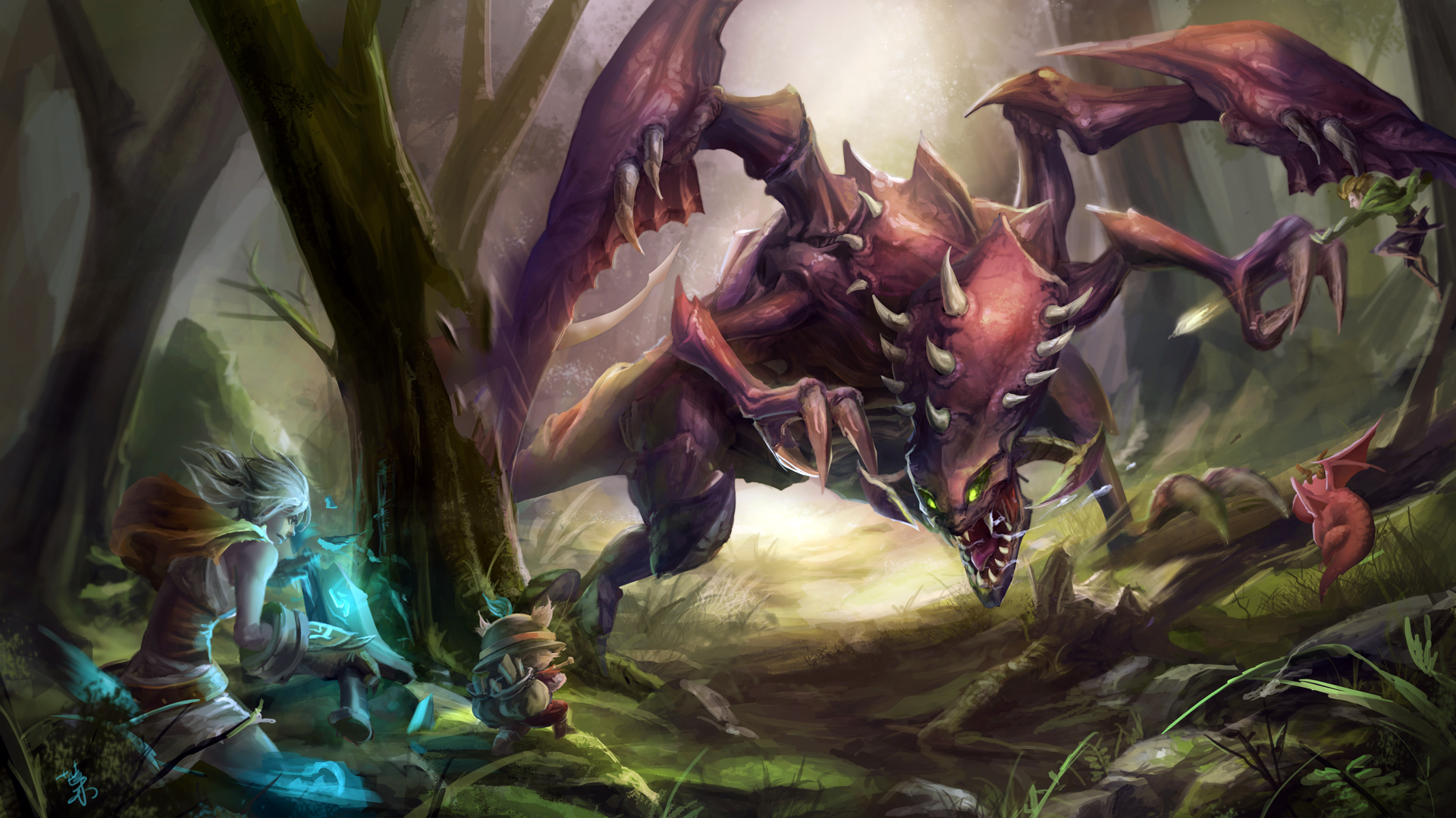 Riven Teemo vs Chogath 7d Wallpaper HD