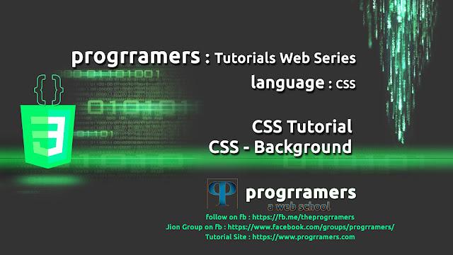 CSS Tutorial - CSS Background