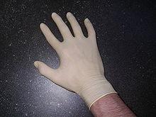 Guantes de latex para proteger nuestras manos de tinta.