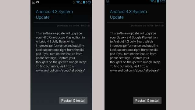 Android 4.3 Jelly Bean update : List of smart phones updating to Android 4.3 Jelly Bean