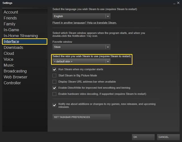 Steam Tema Nasıl Değiştirilir