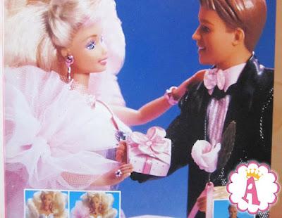 Рисунок на коробке с куклой Барби сияющий взгляд 1991 года