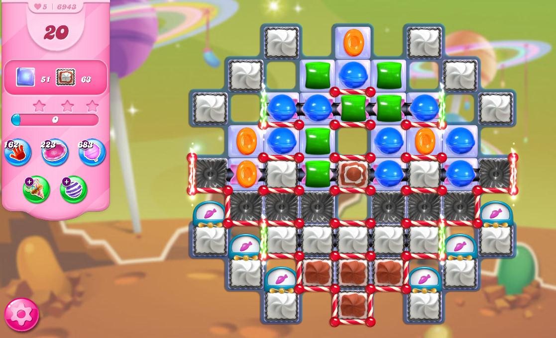 Candy Crush Saga level 6943