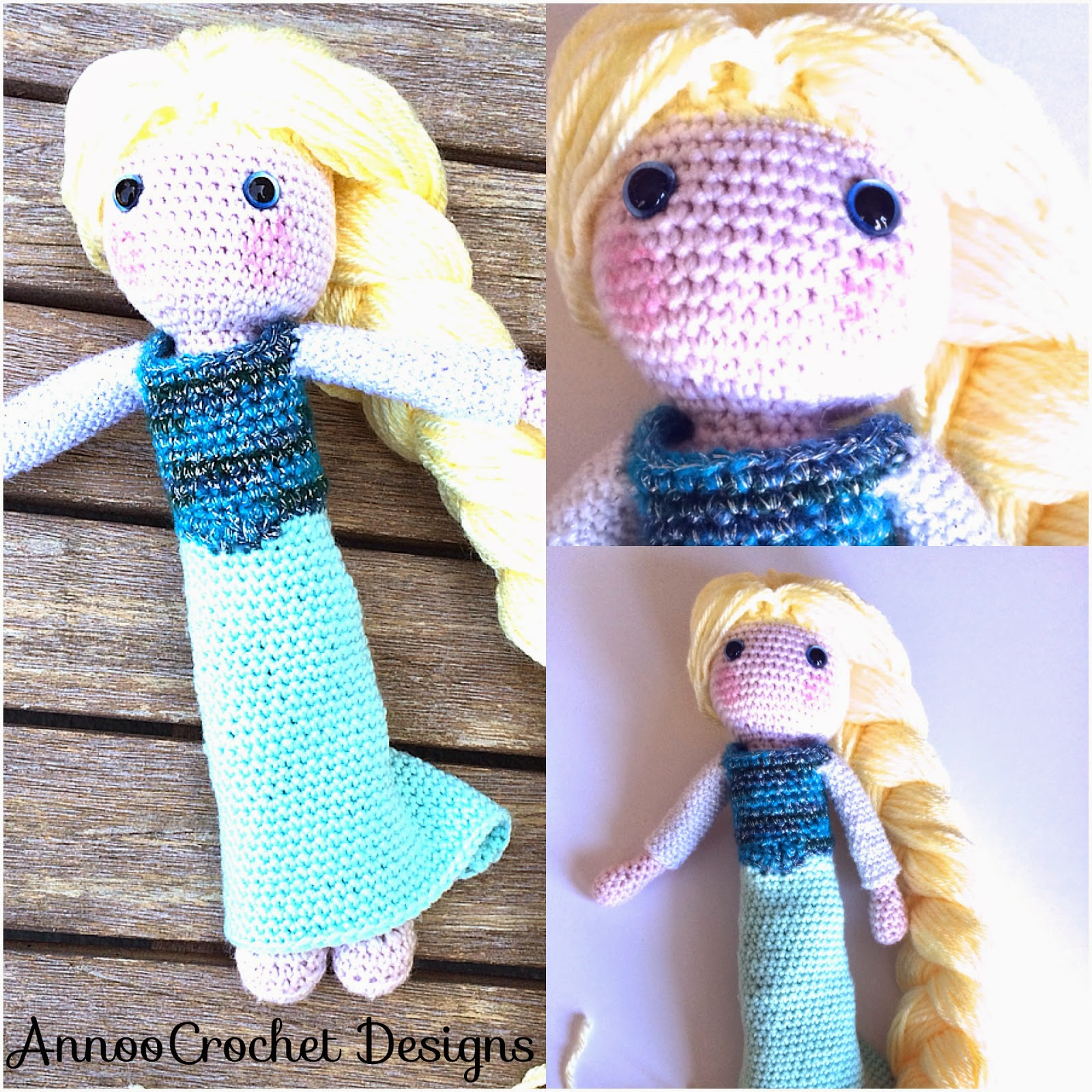 PATTERN 2-PACK: Anna and Elsa Frozen Crochet Amigurumi Dolls ... | 1600x1600
