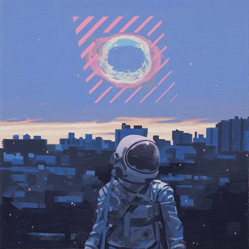 """Diamond"" - Scott Listfield | imagenes de arte bellas, pinturas tristes nostalgicas, cuadros, astronautas, sad art pictures, cool stuff"
