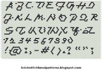 Free brick stitch beaded alphabet complete pattern download.
