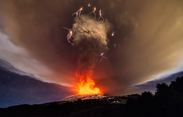 Mount Etna Volcano Eruption