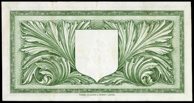 Malta 10 Shilling note 1949