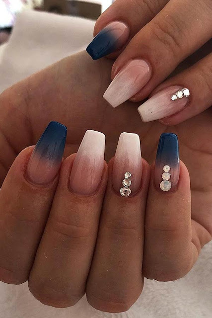 26 Blue Ombre Nail Art And Tips 2020 To Diy Asap Styleuki