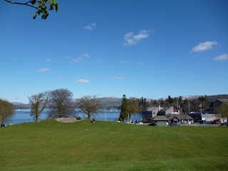 A view of Lake Windermere from the Pitch and Putt course at The Glebe in Bowness-on-Windermere