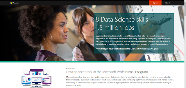 Free, sort of: Microsoft Professional Program Certificate in Data Science