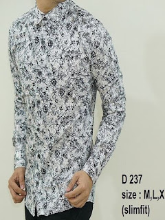 baju batik pria casual