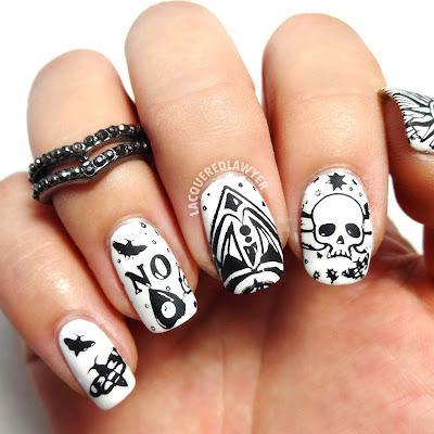 Ouija Nail Art