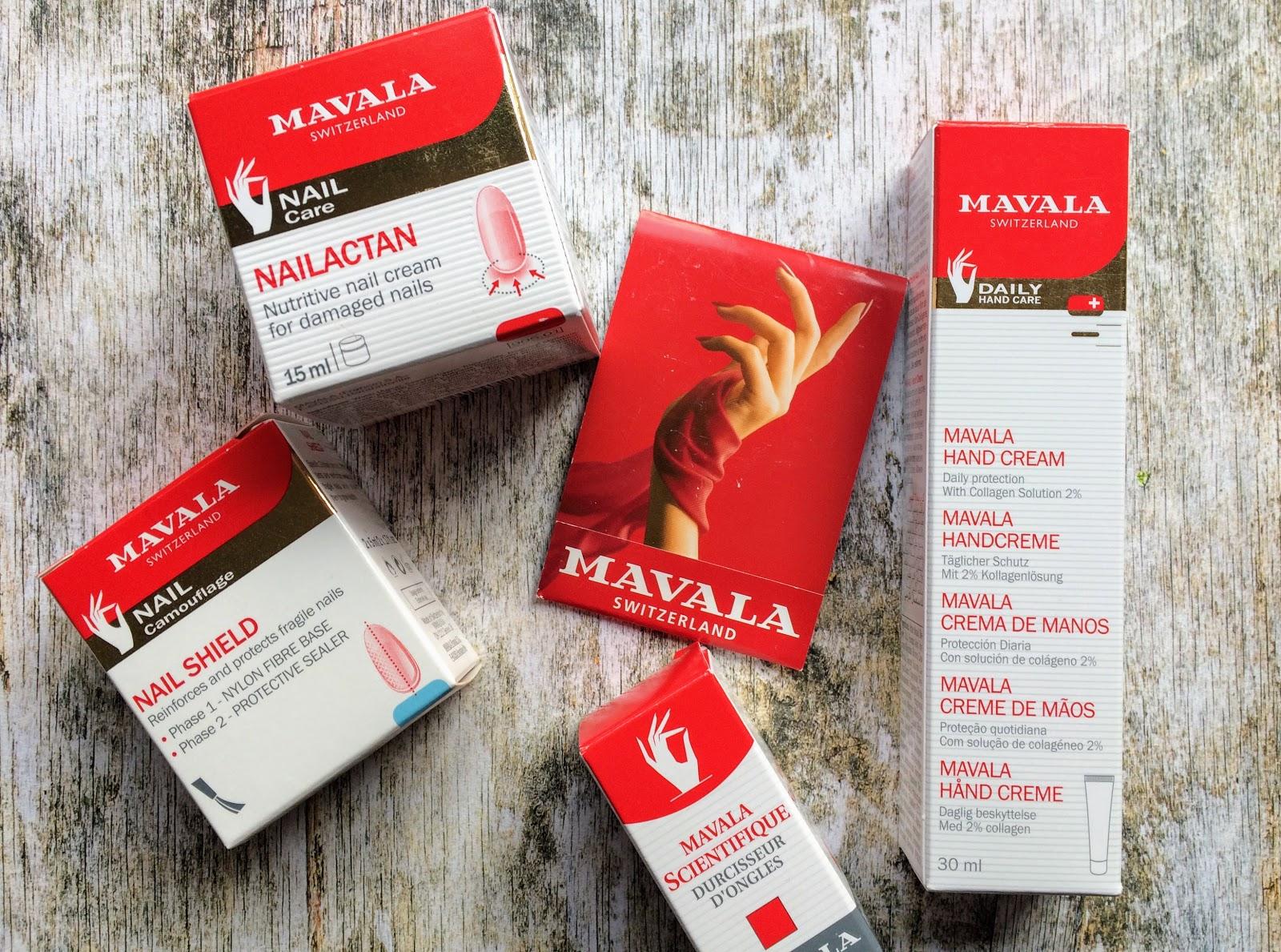 Mavala nail care products