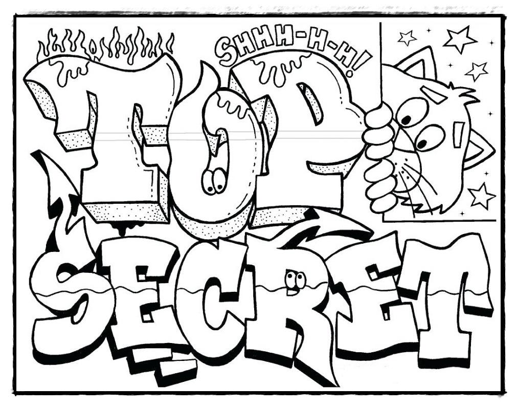 Graffiti Bilder Zum Ausmalen - Malvorlagen Gratis