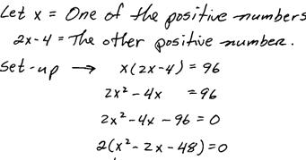 OpenAlgebra.com: Applications involving Quadratic Equations