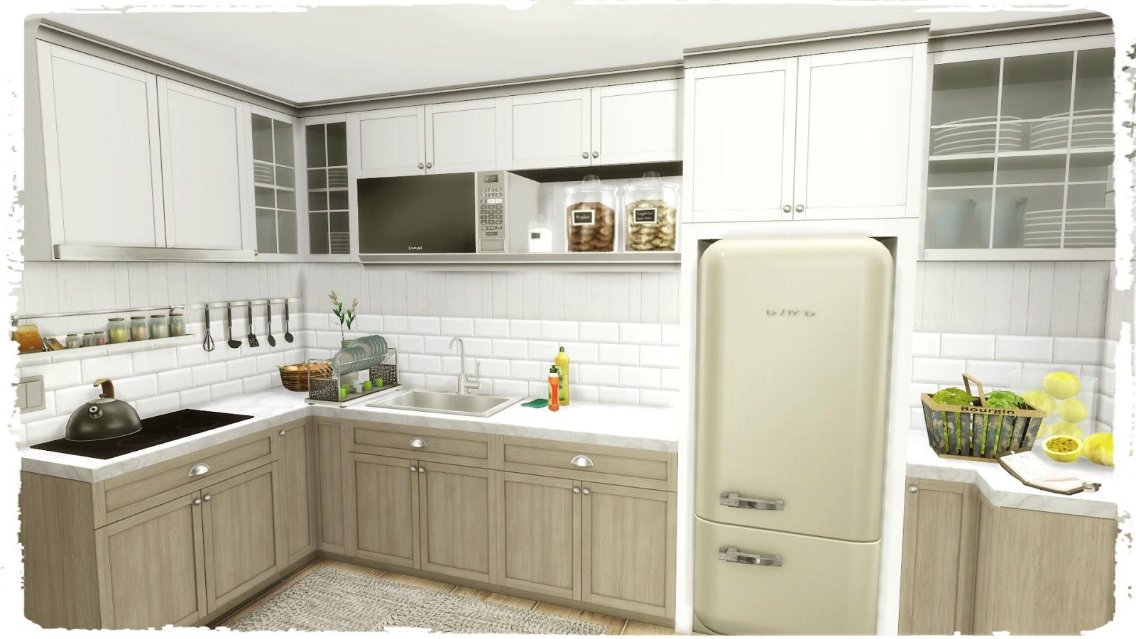 Sims 4  Flower Kitchen Build  Decoration  Dinha
