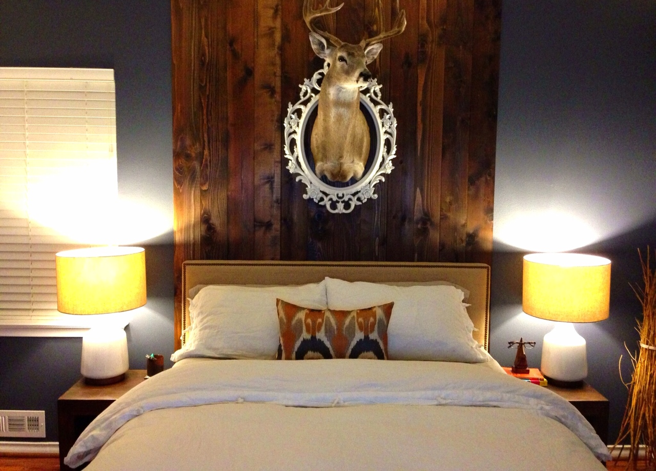 The Re Inspired Diy Wood Plank Headboard