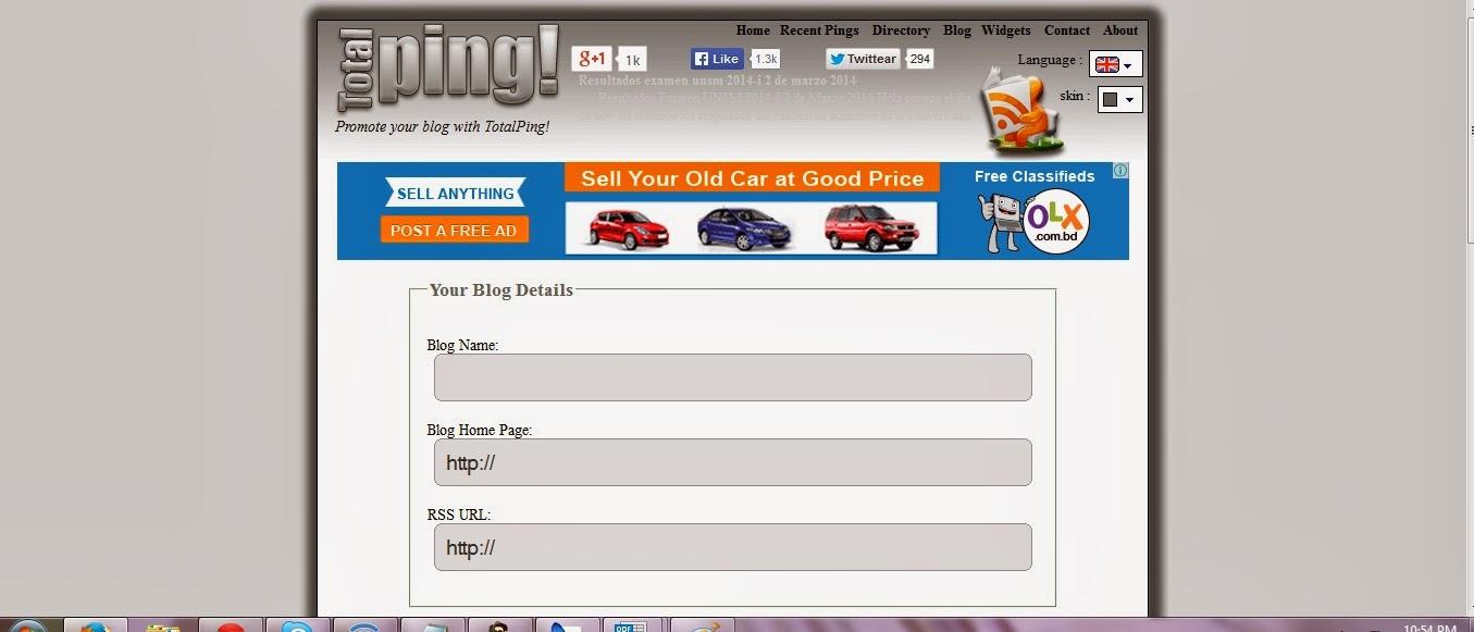 http://www.totalping.com/ টপটেন পিং সার্ভিস সাইট লিংক দেখেনিন এখনই নতুন ব্লগার এবং ওয়েবমাস্টারদের জন্য
