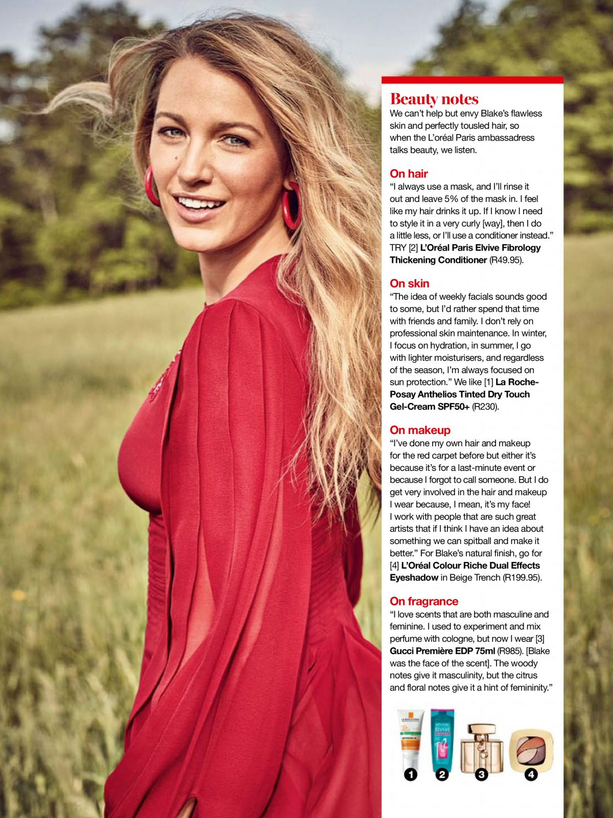 HD Photo Shoot of Blake Lively for Glamour Magazine South Africa January 2018 Issue