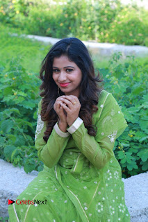Actress Manaali Rathod Latest Pictures in Green Dress  0089