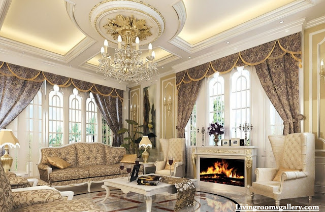 luxury POP false ceiling designs for living room