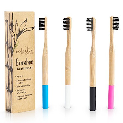 Bamboo Charcoal Infused Toothbrush Set