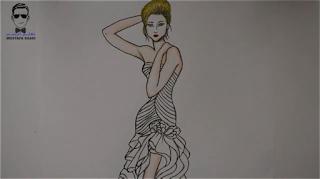 تعلم رسم فستان