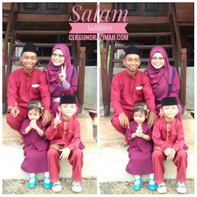 raya 2018, #inikanraya, gambar raya, tema maroon purple, baju raya tema maroon purple, baju raya sekeluarga,