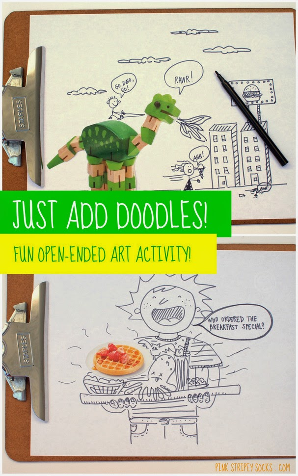 Magazine doodles- Fun open-ended art activity for kids!