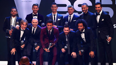 THE BEST XI TEAM 2017 FIFA AWARD