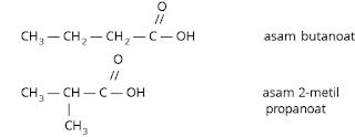 Isomer asam butanoat