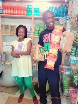 100 shilling wedding couple mini supermarket