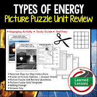 PHYSICAL SCIENCE Test Prep, PHYSICAL SCIENCE Test Review, PHYSICAL SCIENCE Study Guide, Types of Energy