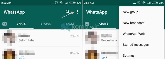 whatsapp ganti status